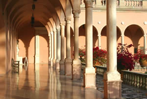 Photo of beautiful courtyard